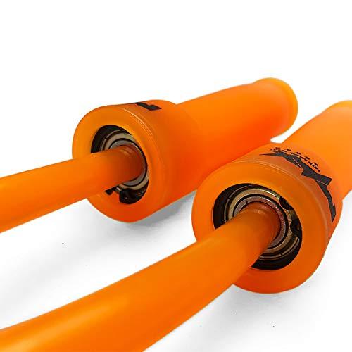 WYXR Cuerda de Salto Ajustable Comba Velocidad - Entrenamiento para el Entrenamiento Doble, Entrenamiento Cruzado, Ejercicio y Entrenamiento del Box,Naranja