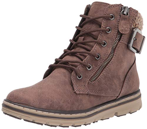 CLIFFS BY WHITE MOUNTAIN Shoes Kelsie Women's Lace-up Hiker Style Bootie, Stone/Fabric, 8.5 M