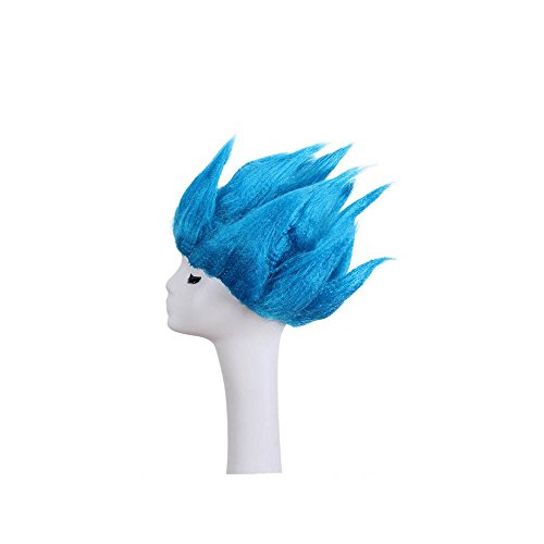 Man's Fashion Blue Cosplay Wigs for Halloween