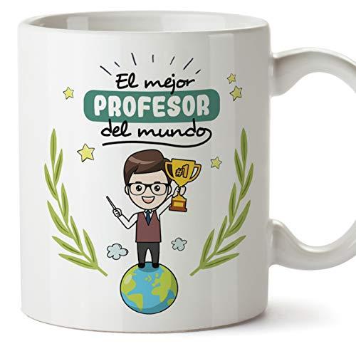 MUGFFINS Taza Profesor (Hombre)- El Mejor Profesor del Mundo - Taza de