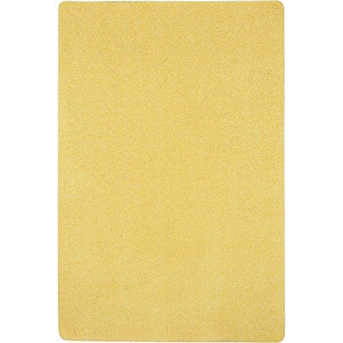 "Joy Carpets Kid Essentials Just Kidding Misc Solid Color Area Rugs, 48"" by 72"", Lemon Yellow"
