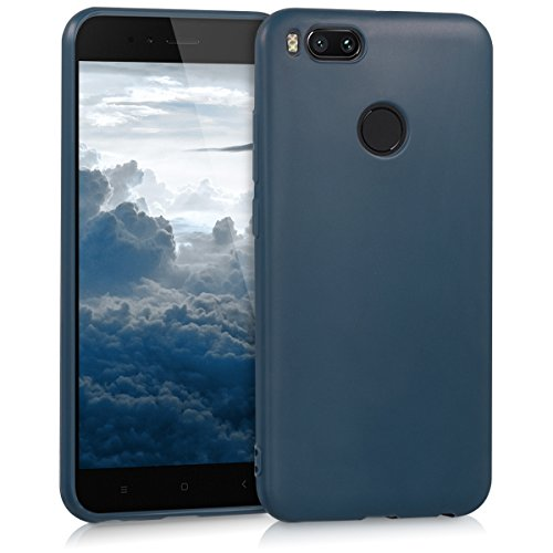 kwmobile Funda Compatible con Xiaomi Mi 5X / Mi A1 - Carcasa de TPU Silicona - Protector Trasero en Azul Oscuro