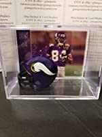 Randy Moss Minnesota Vikings Mini Helmet Card Display Collectible Auto WR HOF Shadowbox Autograph