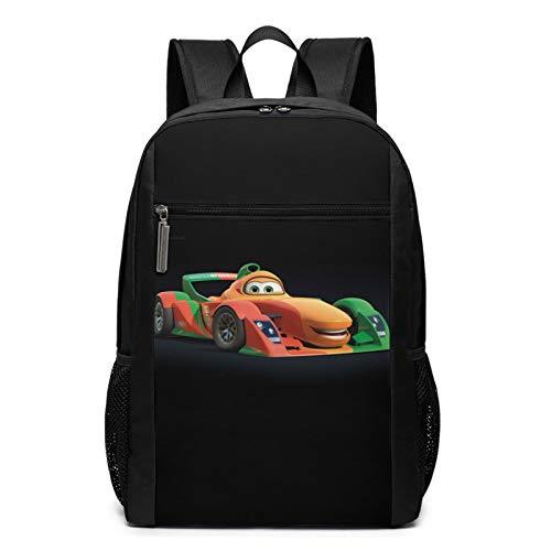 Cars Ligh-tning Mc-queen Mochila escolar ligera, impermeable, para estudiantes de escuela media, para adolescentes, niños y niñas, lindas bolsas de ordenador para hombres y mujeres, 30 x 17 x 43 cm