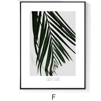 SDFSD Landschaft Natürliche Pflanzenblatt Leinwand Gemälde Nordische Wandkunst Bilder Skandinavien Poster Druck Wohnzimmer Wohnkultur 40 * 50cm