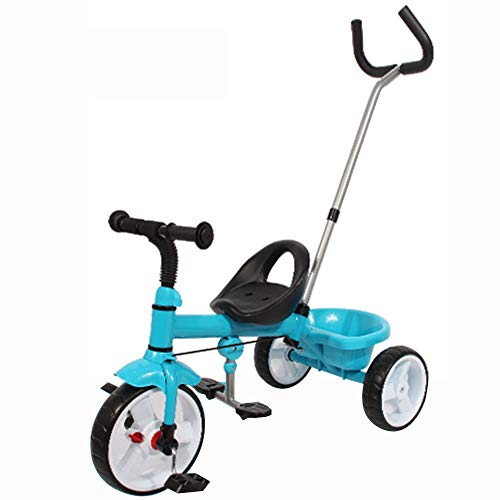 Lowest Price! Axdwfd Kids Tricycle 1-5Years Old Birthday Gift Baby Tricycle with Push Handle Load ï¼...