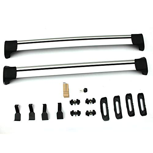 """MOTOOS 48"""" Universal Roof Rack Crossbars Cargo Bars for Cars Without Rails (Bare Roof), Aluminum Pack of 2"""