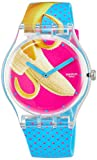 Swatch Reloj Analógico para Unisex Adultos de Cuarzo con Correa en Silicona SUOK140