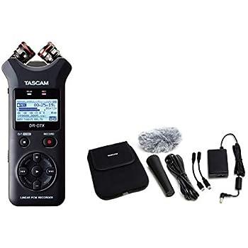 TASCAM タスカム - USB オーディオインターフェース搭載 ステレオ リニアPCMレコーダー DR-07X + アクセサリーパッケージ AK-DR11G MKII セット