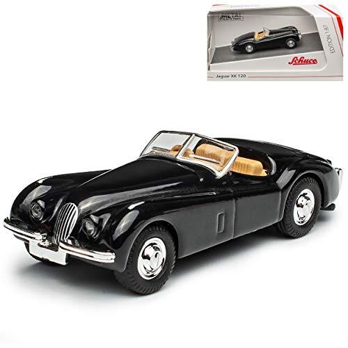 Jaguar XK 120 Cabrio Schwarz 1948-1954 H0 1/87 Schuco Modell Auto