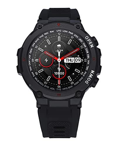 Reloj Smart de Radiant. Colección Watkins Green. Reloj con Correa de Silicona Negra y Caja a Tono. 45mm de diámetro. IP67. Referencia RAS20601.