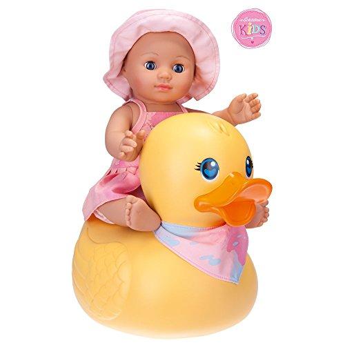 Schildkröt 610300002 Puppe Schildkr&oumlt Kids Badepuppe Girl mit Schwimmente, 30cm, 30 cm