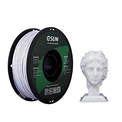eSUN Marble PLA Filament 1.75mm, Marble PLA 3D Printer Filament, Dimensional Accuracy +/- 0.05mm, 1KG (2.2 LBS) Spool 3D Printing Filament for 3D Printers, Marble Color
