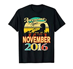 Awesome since 2016 funny 4th birthday Years Old Gift Tee Retro vintage 2016 4th birthday gift for boys, kids Lightweight, Classic fit, Double-needle sleeve and bottom hem