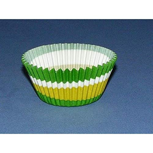 50pc 2 Color Swirl Design Green Standard Size Cupcake Baking Cups Liners Wrappers