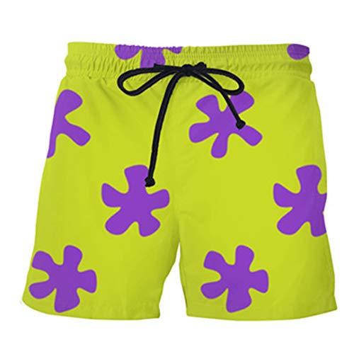 Verano de los Cortocircuitos Ocasionales 3D Patricio Estrella Pantalones de Mujeres/Hombres Pantalones Cortos