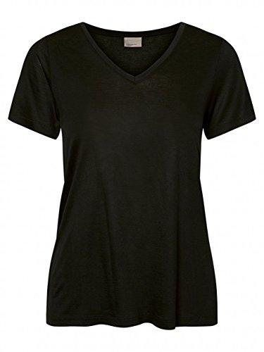 VERO MODA Damen VMMAXI My SS Soft U-Neck NOOS T-Shirt, Schwarz Black, 42 (Herstellergröße: XL)