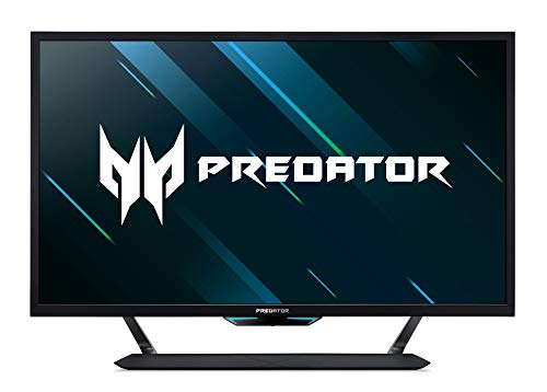 Acer Predator CG437KP 43 inch UHD Gaming Monitor, Black (VA Panel, G-Sync Compatible / Adaptive Sync, 120 Hz (144 Hz OC), 1ms, HDR 1000, DP, HDMI, USB Hub)