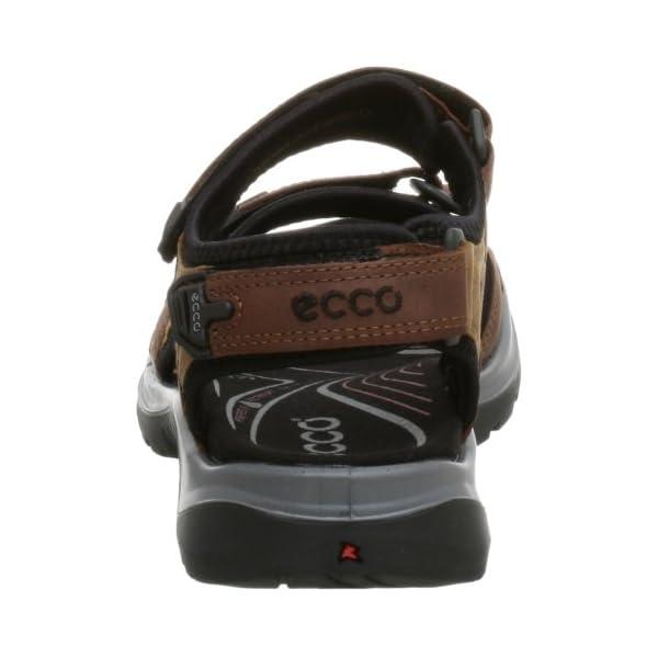 ECCO Women's Yucatan Sandal, Bison/Mineral/Black, 37 EU / 6-6.5 M US