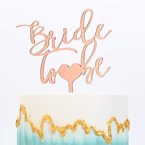 Wedding Cake Topper-Bride To Be,Bridal Shower Engagement Wedding Bachelorette Party Decoration Supplies