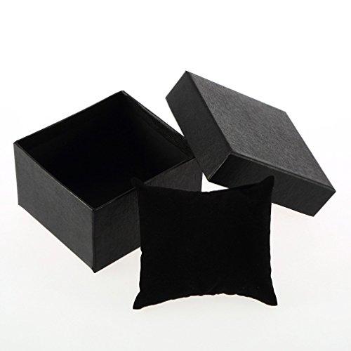 WEIHUIMEI Aufbewahrungsbox für Uhren, quadratisch, mit Schaumstoffkissen