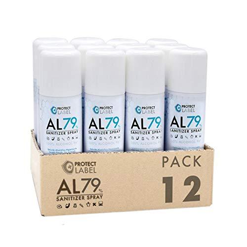 Hidroalcohol Spray 12 x 500ml. Higienizante manos y superficies 79% Alcohol Aerosol Hidroalcohólico