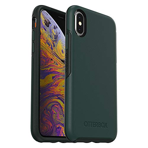 OtterBox Symmetry Series Case for iPhone Xs & iPhone X – Retail Packaging – Ivy Meadow (Trekking Green/Scarab)