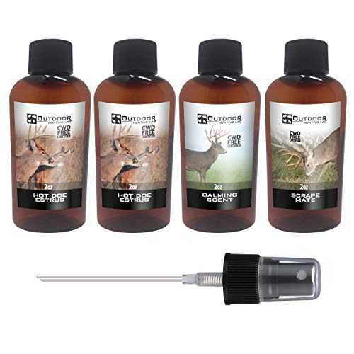 Outdoor Hunting Lab Scrape Mate Whitetail Deer Attractant Urine Pure Active Scrape Lure Buck Hunting Scent 4 Bottle Mix
