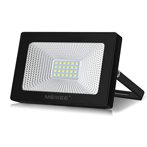 MEIKEE Led Floodlight Outdoor, 20W LED Security Light, IP66 Waterproof Super Bright led Spot Lights Daylight White Light for Garden, Yard, Garages, Warehouse, Patio, Billboard