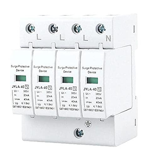Dispositivo de protección contra sobretensiones SPD-4P 40KVA DC sistema fotovoltaico de baja tensión Película de protección contra rayos 123Relé