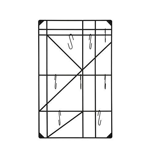 POETRY Jas en pakje plank Europese stijl ijzeren kunst huishoudelijke Multi-functie muur kapstok kledingrek vrijstaande (kleur: zwart)