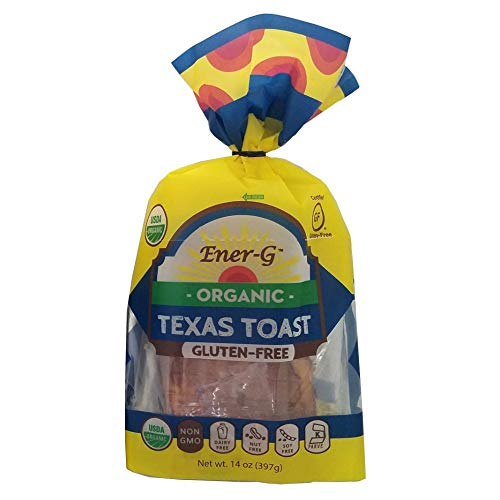 Texas Toast Gluten Free Bread by Ener-G   Organic, Non-GMO, Kosher Sliced Bread Loaf   Single Pack 14 oz/ 9 Slice Loaf