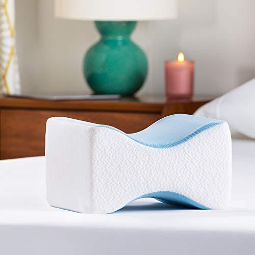 Linenspa Orthopedic Gel Memory Foam Knee Pillow for Side Sleepers-Back, Leg, Hip, Joint, Pregnancy, Sciatica Pain Relief