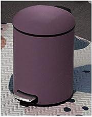 ゴミ箱キッチン, ステンレス足踏み霧パープルのごみ箱でふたなどホテル/ホーム/ベッドルーム/キッチンについては、匂い、古紙のバスケットをブロックします。 トイレのゴミ箱