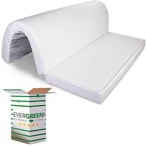 Evergreenweb – Colchón para sofá Cama Plegable 140x190 de Poliuretano 10 cm de Alto, Listo para Plegar sobre el Asiento Revestimiento hipoalergénico ortopédico ergonómico Lazos de fijación Bed Sofa