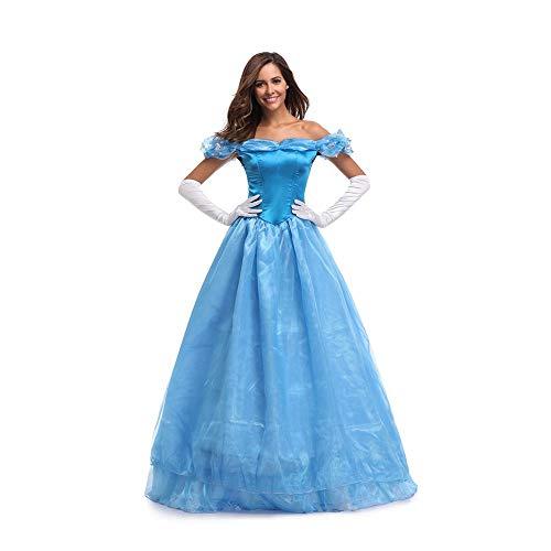 Hging Halloween Costume Frozen Princess Dress Queen Elsa Queen Elsa Queen Elsa Adult Performance Costume (Size : S)