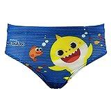 characters cartoons baby shark pinkfong - bambino - costume da bagno pantaloncino boxer slip parigamba mare piscina - licenza ufficiale [0472 azzurro - 3-4 anni]