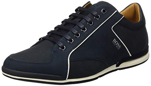 BOSS Herren Saturn_Lowp_nupf Sneaker, Blau (Dark Blue 401), 44 EU
