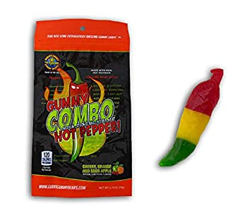 Spicy Gummy Hot Chilli Pepper Candy Challenge - Jalapeno Habanero Ghost  Pack of 3
