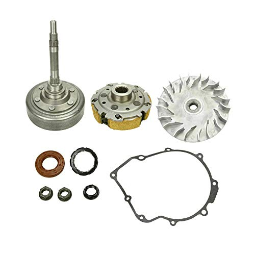 BETTERCLOUD Wet Clutch Drum Housing & Primary Sheave Pad Shoe with Gaske Fit for 2004-2007 Yamaha Rhino 660 & 2002-2008 Yamaha Grizzly YFM660