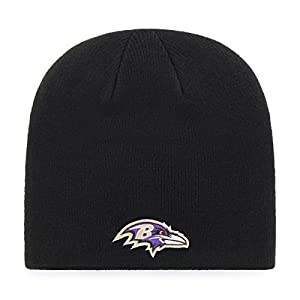 OTS NFL Baltimore Ravens Men's Beanie Knit Cap, Team Color, One Size