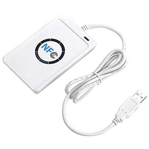ACS ACR122U USB 2.0weiß-Kartenlesegerät Chip–-Laufwerke Chipkarten (USB 2.0, 65x 12,8x 98mm, 70g, Windows 2000, Windows 2000Professional, Windows 7Home Basic, Windows 7Home Basic X64, Windows 7..., Android, ISO 14443, CE, FCC, KC, vcci, PC/SC, CCID, USB)