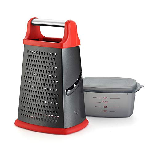 Icegrape 4 zijden groenterasp ontwerp roestvrij staal keuken benodigdheden multifunctionele antiaanbaklaag voor kaas, gember en groenten