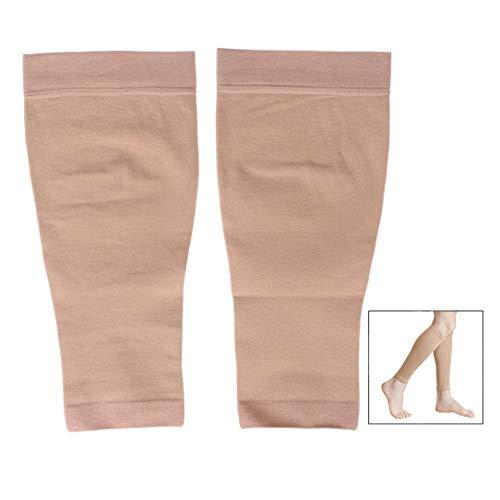 Xrten Chaussettes de Compression Mollet, 1 Paire Chaussette de Contention sans Pieds pour Hommes et Femmes Ultra Légère Élastique du Traitement