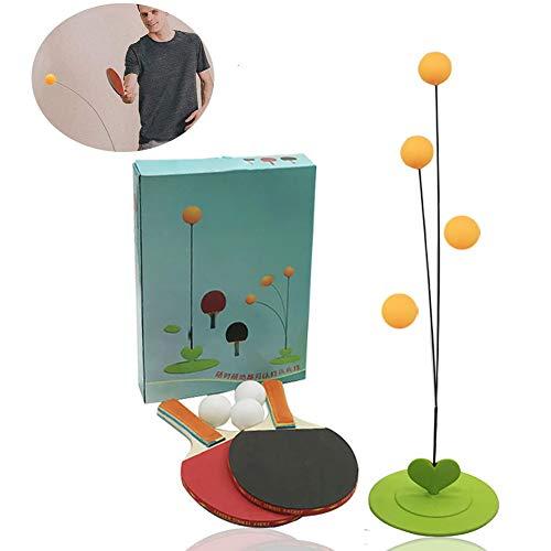 Entrenador Tenis Mesa Elástico Eje Suave Portable Home Entertainment Juego De Pelota De Ping Pong O Al Aire Libre En Interiores para Adultos Y Niños