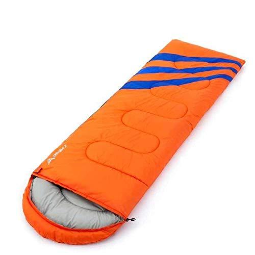 DLSM Sac de couchage adulte camping portable unique hiver voyage froid tente épaisse chaude adulte, Orange 1,35 kg.