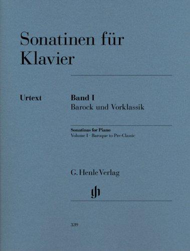 Sonatinen für Klavier Band I, Barock und Vorklassik