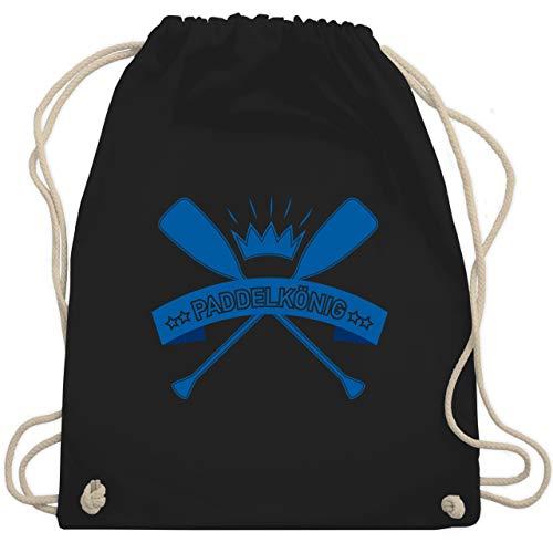 Wassersport - Paddelkönig - Unisize - Schwarz - rudern - WM110 - Turnbeutel und Stoffbeutel aus Baumwolle