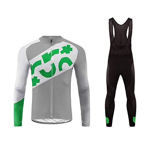 Uglyfrog Graue Klasse Frühling/Herbst Männer Radfahren Kleidung Set Fahrrad Anzug Outdoor Langarmtrikot+ Hose Atmungsaktiv Schnell Trocken