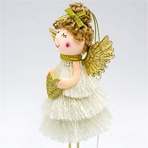 unknow Jinliang Christmas Angel Tree Topper Decorations Frozen Winter And Angel Tree,Golden love